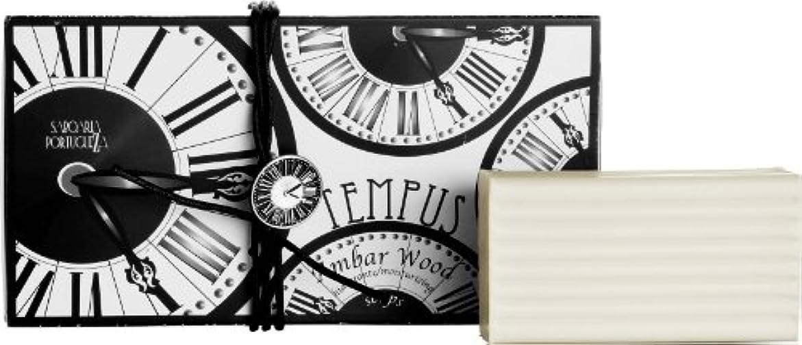 損失カバーヒゲサボアリア テンプス/tempus ソープセット3×180g アンバーウッド