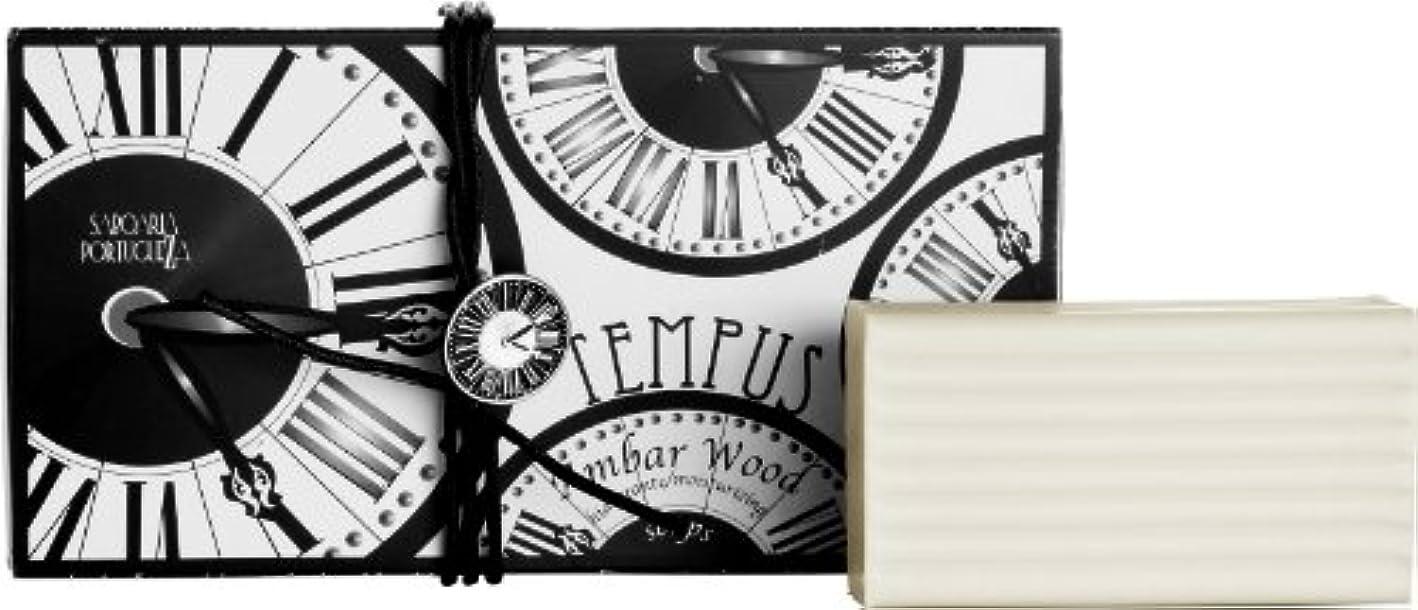 牽引雪化石サボアリア テンプス/tempus ソープセット3×180g アンバーウッド