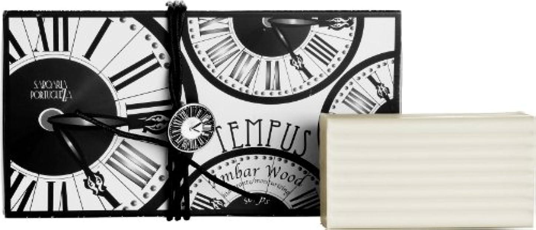 叙情的な葡萄ディーラーサボアリア テンプス/tempus ソープセット3×180g アンバーウッド