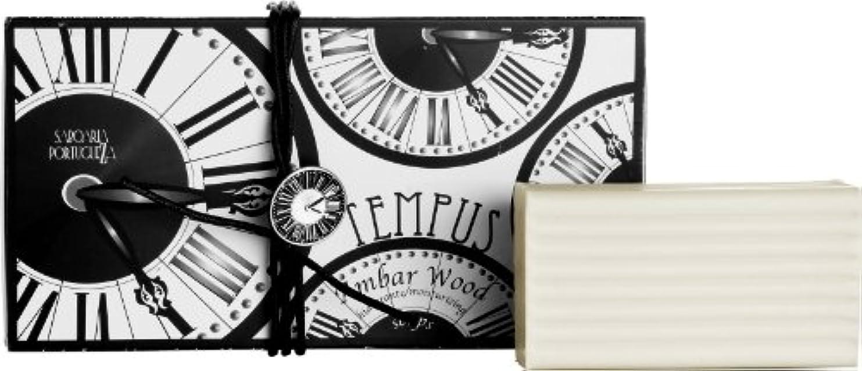 やけど是正する芸術的サボアリア テンプス/tempus ソープセット3×180g アンバーウッド