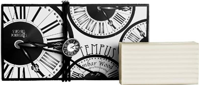 締め切り無効にする平方サボアリア テンプス/tempus ソープセット3×180g アンバーウッド