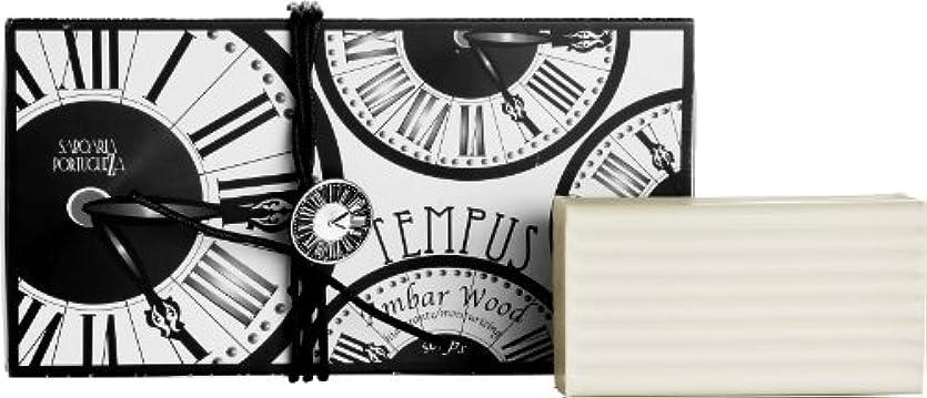 ドラマ即席校長サボアリア テンプス/tempus ソープセット3×180g アンバーウッド