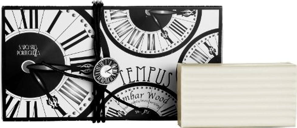 支配するオーバーフローうねるサボアリア テンプス/tempus ソープセット3×180g アンバーウッド