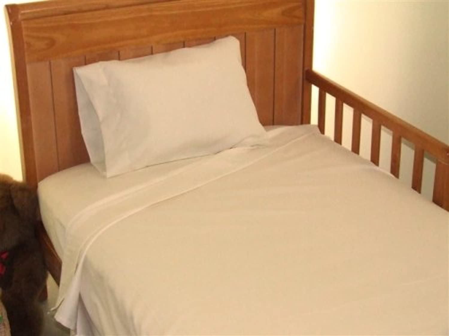 Toddler Bed Sheet Set 100% cotton Color: Ivory by AB Lifestyles