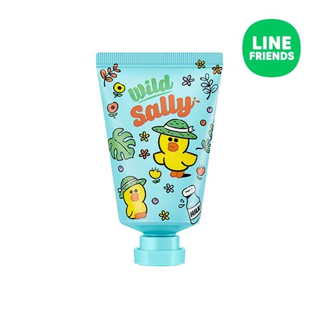 核フック説明するミシャ(ラインフレンズ)ラブシークレットハンドクリーム 30ml MISSHA [Line Friends Edition] Love Secret Hand Cream - Sally # Cotton White [...