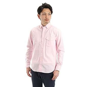 (マクバトロス)Macbatros オックスフォードワイドカラーボタンダウンロングスリーブシャツ L ペールピンク(62)