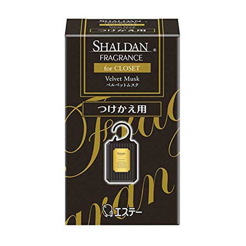 シャルダン SHALDAN フレグランス for CLOSET 芳香剤 クローゼット用 つけかえ ベルベットムスク 30g