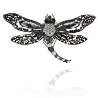 SP Sophia Collection ラディアント ファイヤーフライ エレガント ブローチピン オーストリアンクリスタルとラインストーン装飾