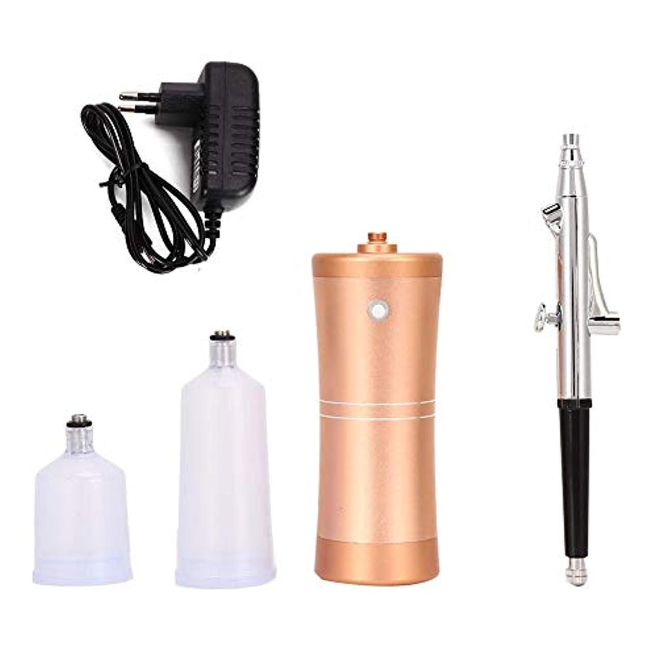 独立それから本物4種類 酸素噴霧器顔保湿スプレーエアブラシ霧化保湿剤空気圧縮機キット(03)
