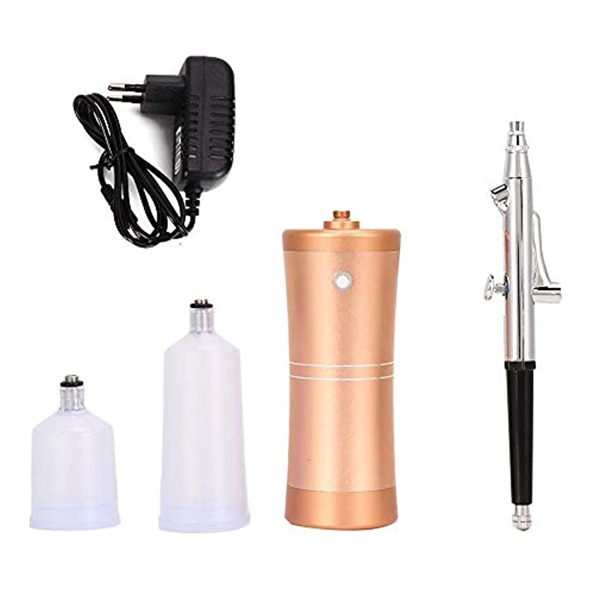 架空のお願いしますパステル4種類 酸素噴霧器顔保湿スプレーエアブラシ霧化保湿剤空気圧縮機キット(03)