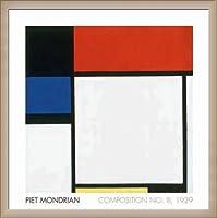 ポスター ピエト モンドリアン Composition No. III 額装品 ウッドベーシックフレーム(オフホワイト)