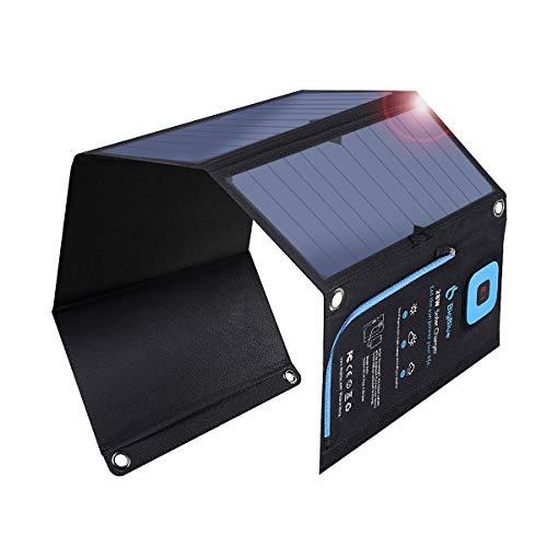 BigBlue 28W ソーラーチャージャー 液晶電流計 ソーラー 充電器 2USBポート ソーラーパネル 折り畳み式 防...