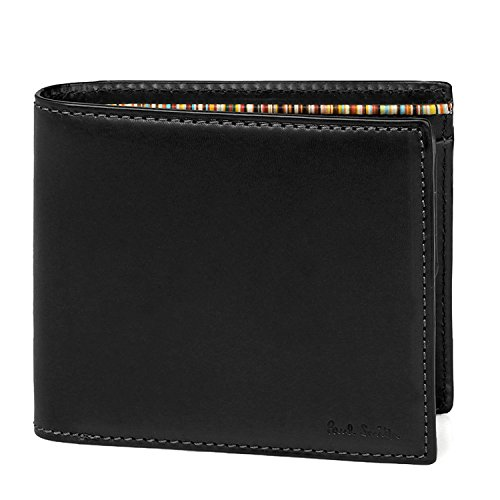 (ポールスミス) Paul Smith オールドレザー ウォレット 本革 二つ折り財布 873215 P485 ショップバッグ付 (ブラック)