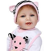 Lovely Cute Smiling 22インチ55 cmソフトSiliconeビニールReborn人形Realistic Lookingベビー女の子新生児人形幼児用マグネットおしゃぶり