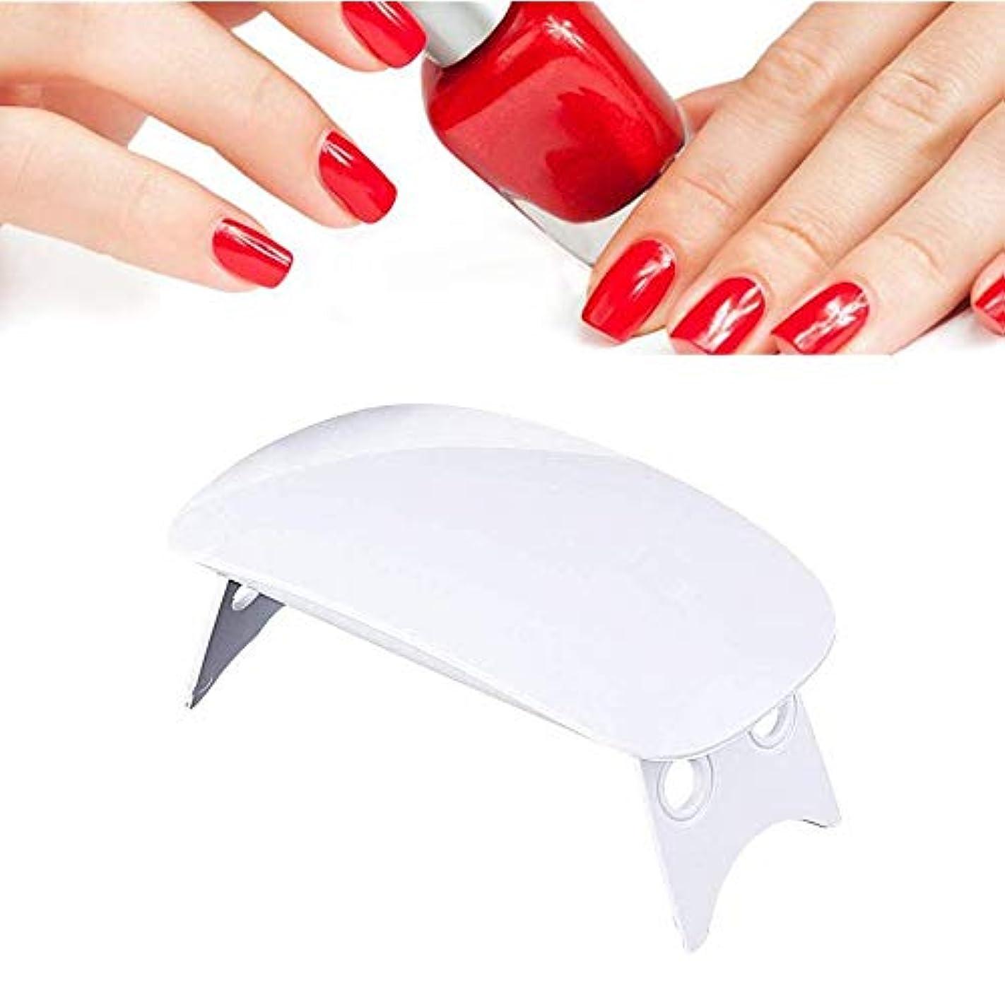 費やす動脈きゅうりUV LED 硬化用 ライト ネイルドライヤー 折りたたみ式 usbライト ジェルネイル用 携帯用 (ホワイト)