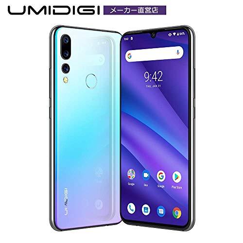 UMIDIGI A5 PRO simフリー スマホ Android 9.0 トリプルカメラ 最強のコスパ 6.3インチ FHD+水滴型ノッチ付きディスプレイ 16MP+8MP+5MP 4150mAh 4GB RAM + 32GB ROM Helio P23オクタコア DSDV対応 グローバルバージョン 顔認証 指紋認証 技適認証済み AUキャリア不可