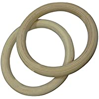 WINOMO AのペアWooden Gymnastic Rings Fitness Rings for Strenghトレーニング(28 mm)