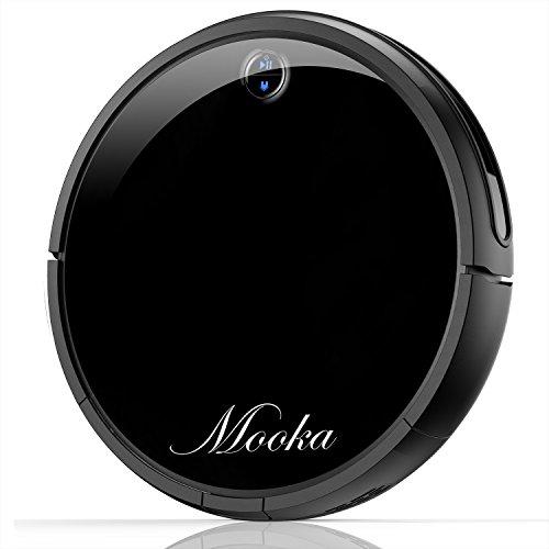 MOOKA I3 ロボット掃除機 静音 薄型 リモコン付き ペット毛に強い 自動充電 強吸引力 落下と衝突防止 丸型 タイマー機能搭載 自動掃除機ロボット