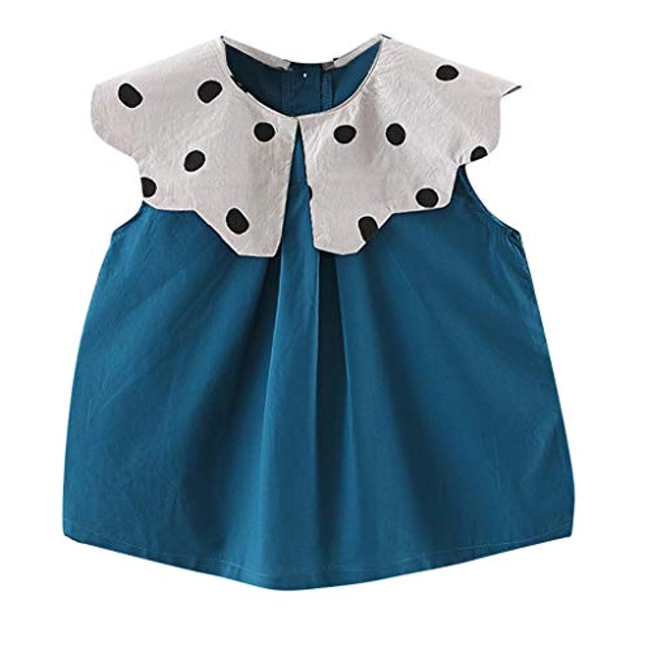 機会摂氏度ポイントキッズ服 ドレス Jopinica 6ヶ月~3歳 夏ノースリーブレースドールカラーワンピース ブルー・オレンジファッションドレスビーチスカート かわいい子供服 令和の最新 カジュアル衣装 お出かけ 日常