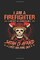 Proud Firefighter Notebook: Diary Journal 6x9 inches with 120 Dot Grid Pages