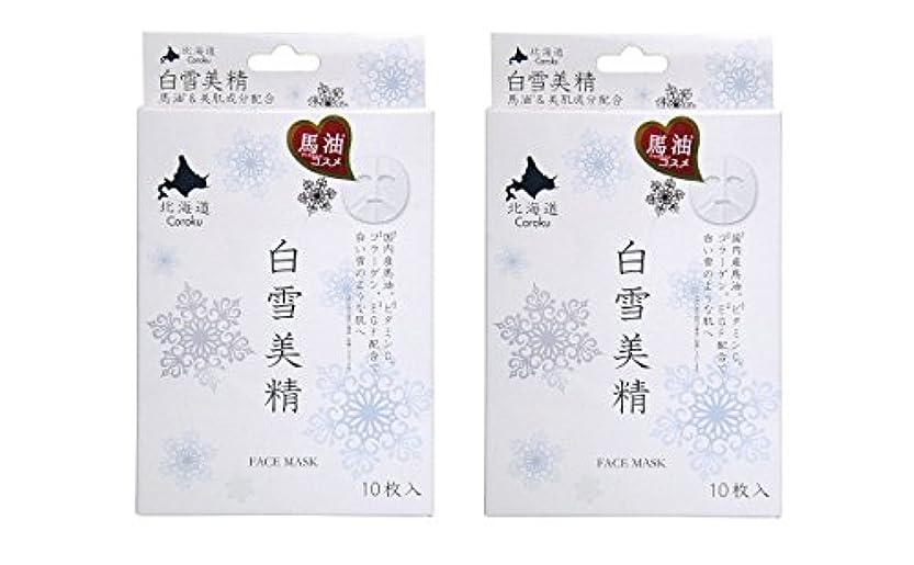 回転北極圏勇者Coroku 白雪美精  フェイシャルホワイトマスク 10枚入り 2箱セット