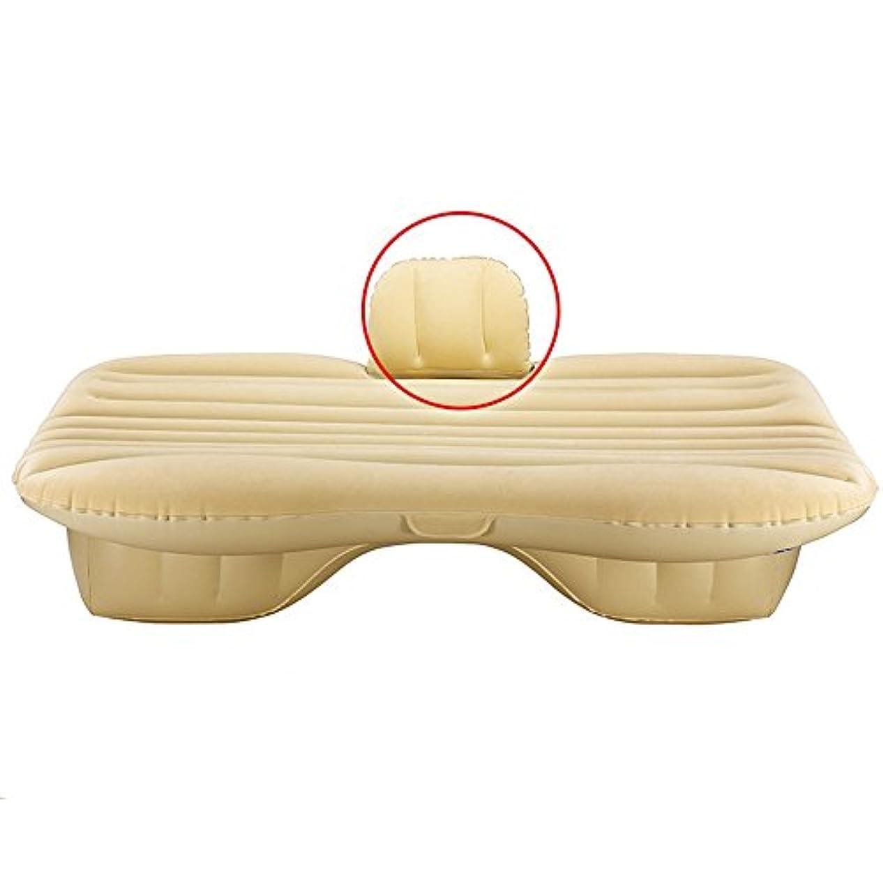 秘書ペイント可能性車のインフレータブルベッドSUVユニバーサルエアベッド大人の屋外旅行ベッドポータブル後部排気パッドベッドエアbedcarインフレータブル旅行ベッド車のエアベッドinfl(色:ベージュ、サイズ:2#)