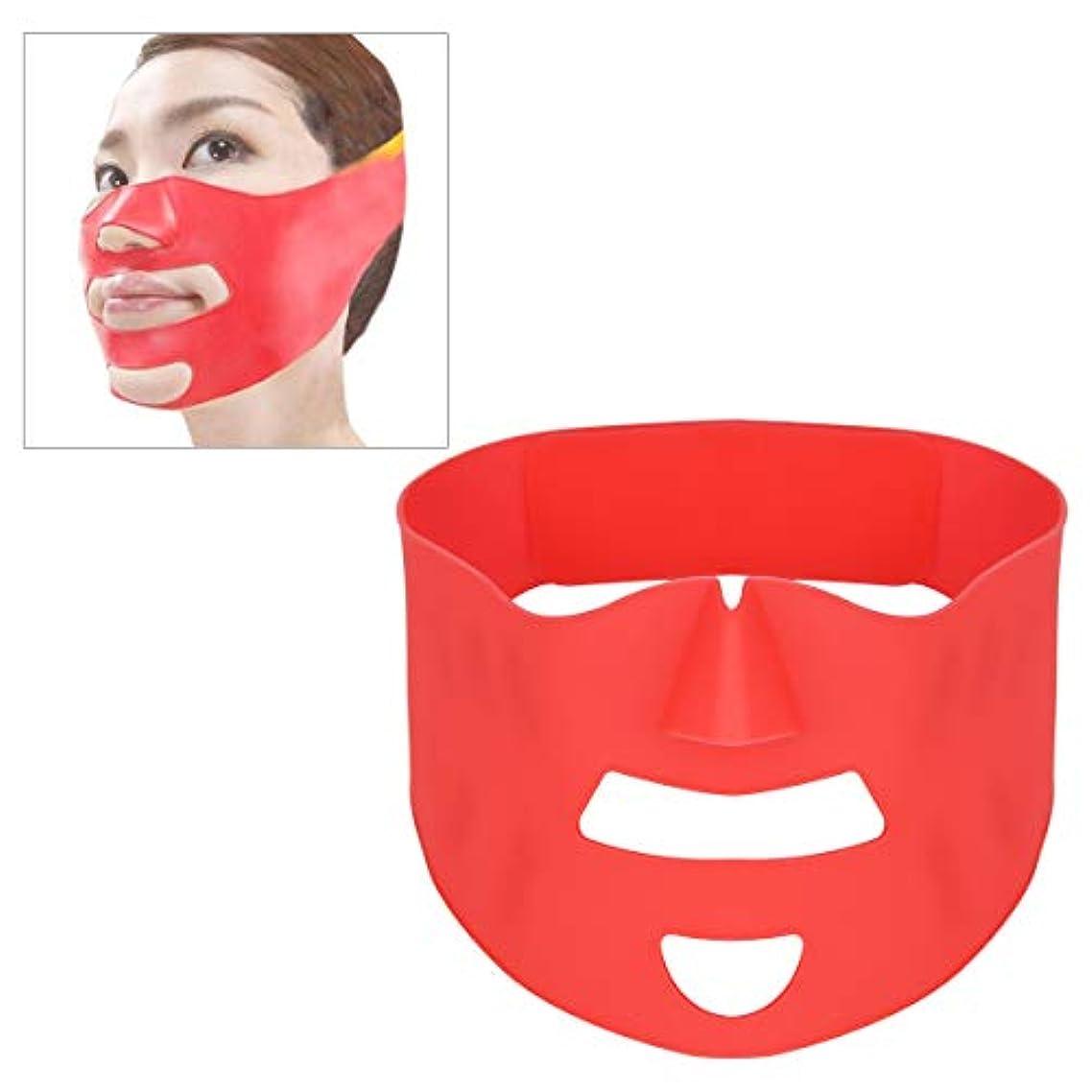 の頭の上雷雨成熟フェイスベルト 小顔 マスク リフトアップ 美顔 シリコン 抗しわ 皮膚改善 軽量 引き締め 引き上げマスク