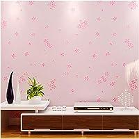 Sunkumo 子供部屋3D花の壁紙現代牧歌的な女の子の寝室防水環境に優しい壁のステッカー家の装飾3D-400X280Cm