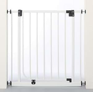 日本育児 nihonikuji ベビーゲイト ベビーズゲート ホワイト 取り付け幅73~90cm×奥行2.5×高さ76.5cm 5kg 5994006001 6ヶ月~24ヶ月対象 扉開閉式のシンプルな突っ張りゲイト