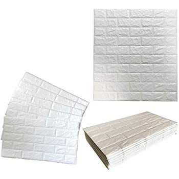 BRANSHERY 3D 壁紙 北欧タイルデザイン 20枚 70cm x 77cm 壁 レンガ 防水 DIYクッション シール シート 立体 壁用 はがせる シール ウォールステッカー 白 壁用 タイル 防湿、防汚、耐衝突