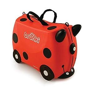 TRUNKI 子ども用 スーツケース キャリーバッグ 乗って遊べる 機内持ち込み 旅行 おもちゃ箱 収納 ライドオン・トランキ/レディバグ・ハーレイ WLTR0092
