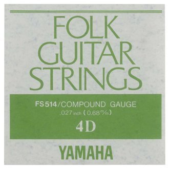 YAMAHA フォークギター弦 バラ弦 FS514 4D .027インチ