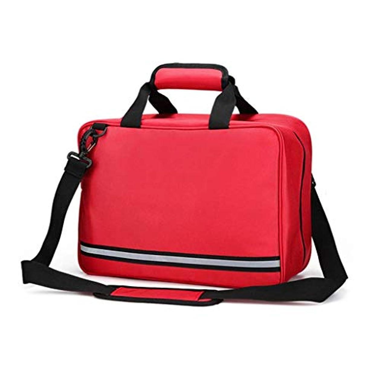 寛大さ規定麻痺HEMFV 屋外の家の存続のための救急箱の医学袋の空の携帯用袋 (Color : Red)