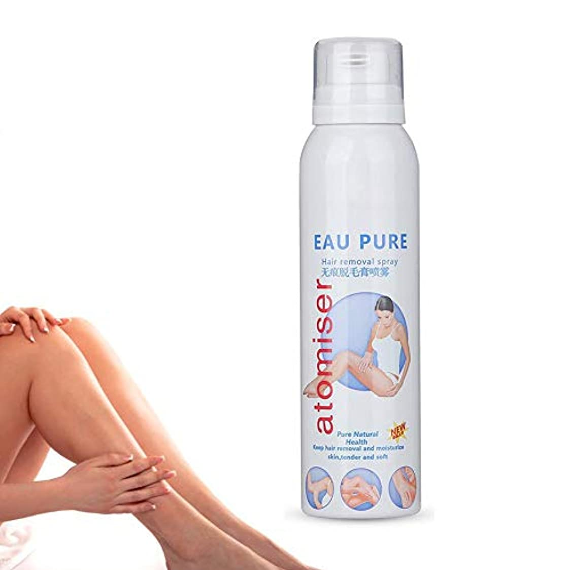 邪魔するサイトラインマウス泡の毛の取り外しのスプレー、130ML SPF30 +日焼け止めの泡の穏やかなボディを悩ませない傷害無し脱毛のムースクリーム女性と男性の両方