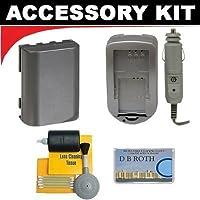 Oneスペアnb2lバッテリー+充電器for the Canon zr960, zr950, zr930, zr900, zr850, zr830, zr800、zr700, zr600, zr500, zr400、zr300、zr200、zr100MiniDVビデオカメラ