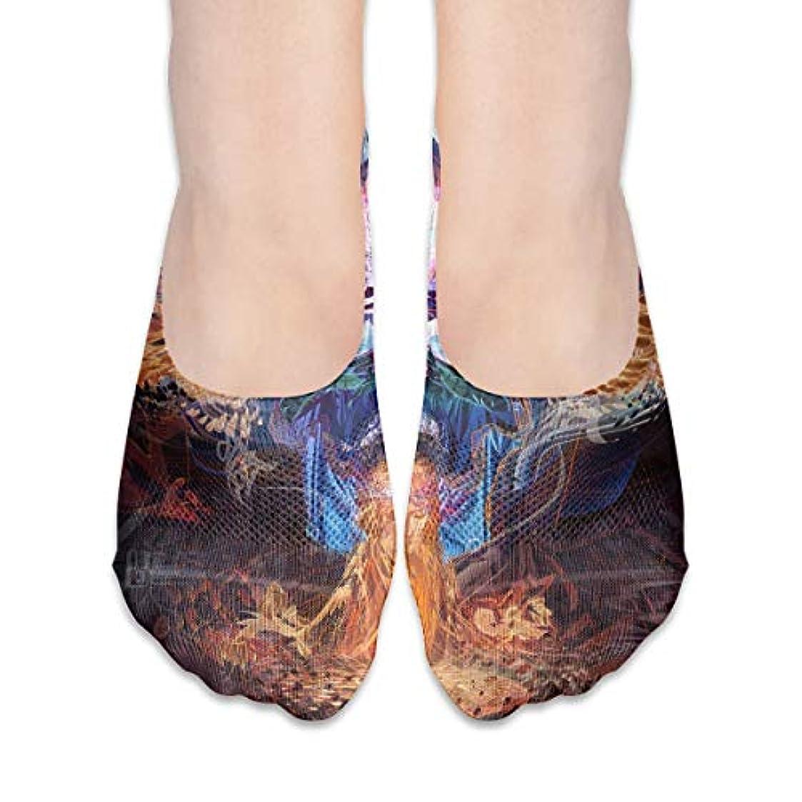 暫定の引っ張る会社女性の抽象的なシュガースカルローカットコットンボート隠し目に見えない靴下