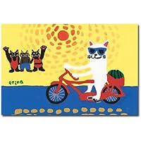猫の足あと ポストカード 「夏」