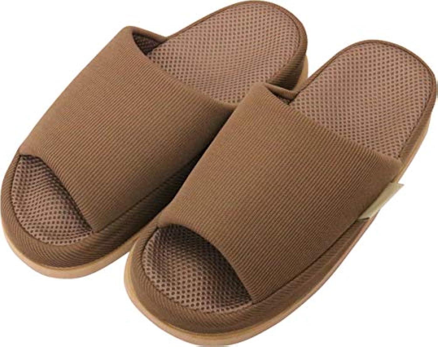 とんでもない居眠りする部分足で癒す リフレクソロジースリッパ リフレ 指の付け根 ブラウン L