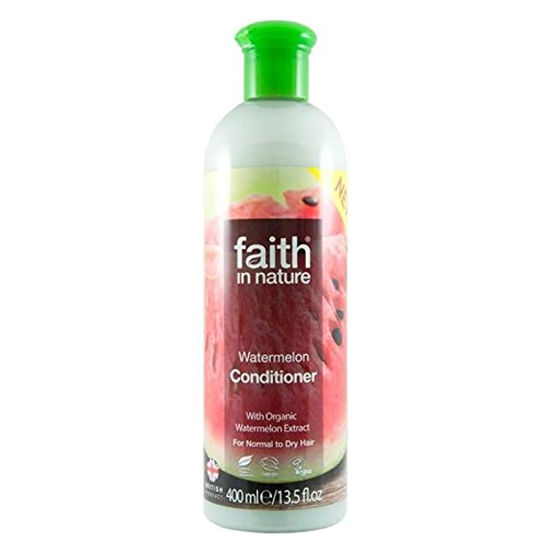 Faith in Nature Watermelon Conditioner 400ml (Pack of 4) - (Faith In Nature) 自然スイカコンディショナー400ミリリットルの信仰 (x4) [並行輸入品]
