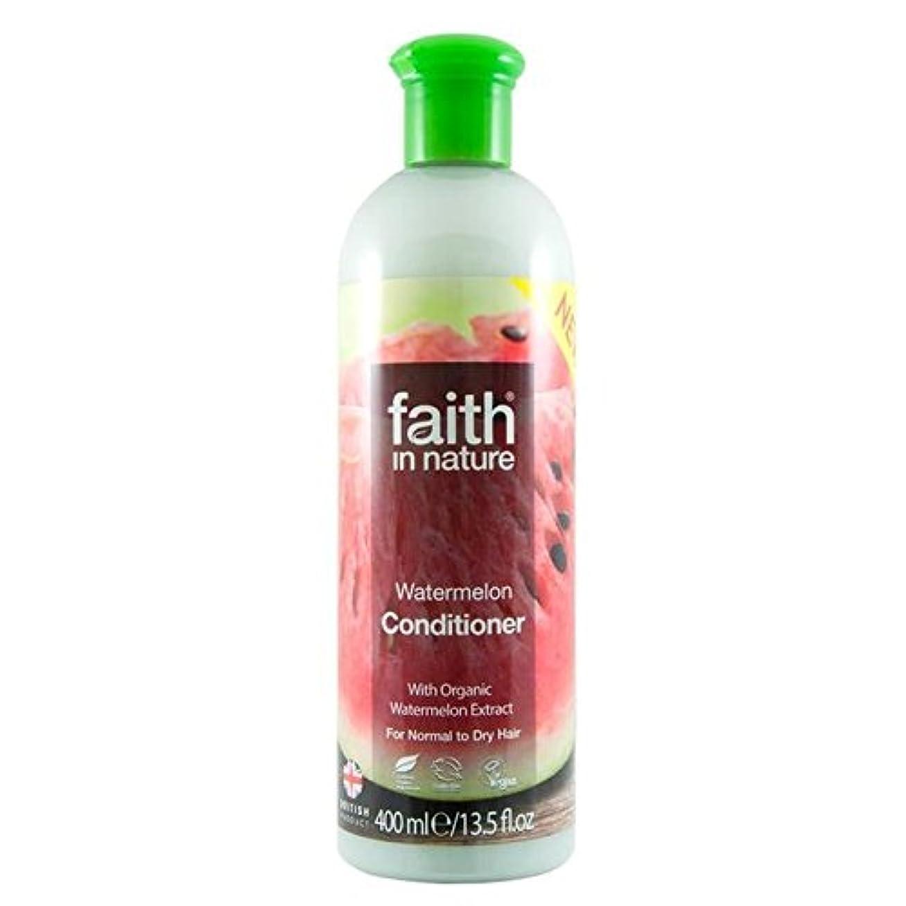 出口ビクターはげFaith in Nature Watermelon Conditioner 400ml (Pack of 4) - (Faith In Nature) 自然スイカコンディショナー400ミリリットルの信仰 (x4) [並行輸入品]