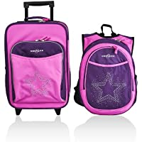 Obersee Kids Luggage and Backpack with Integrated Cooler, Rhinestone Star by Obersee