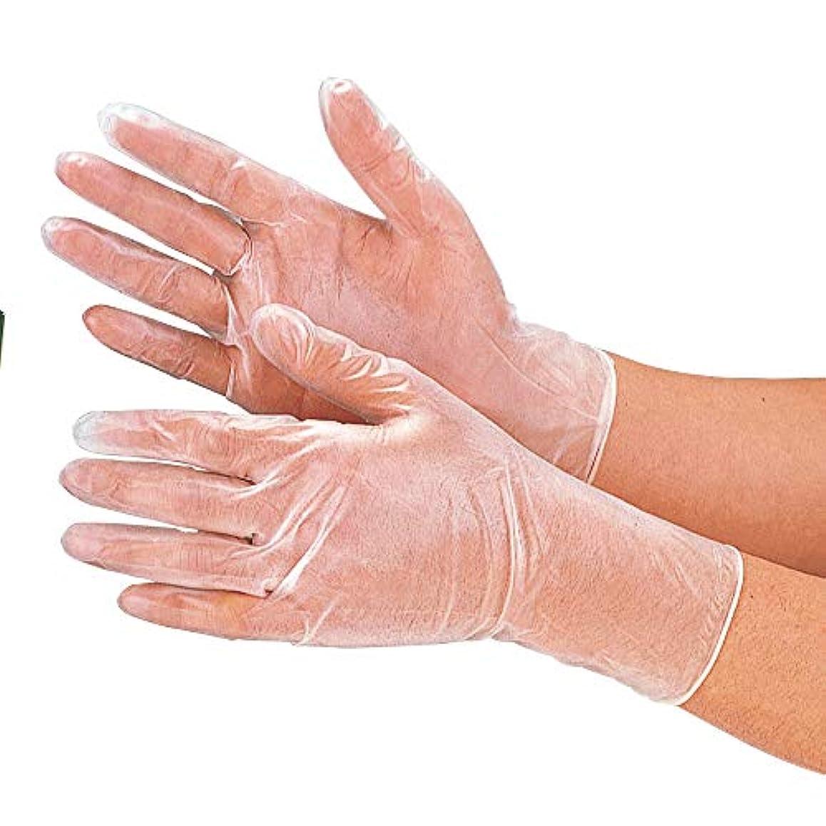 唯物論間に合わせ剛性おたふく手袋 プラスチックディスポ手袋 100枚入り #255 S/M/L