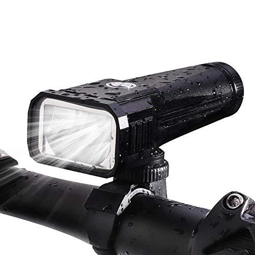 Teyimo 自転車ライト テールライト付き スポークライト付き ledヘッドライト CREE XML2搭載 タッチ型ライト(2000mAh)防水、USB充電、多機能、高輝度 コンパクト (ブラック)