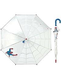 MARVEL マーベル [ベルメゾン] 傘 長傘 手動式 手開き ビニール傘 反射テープ付き 男の子 スパイダーマン