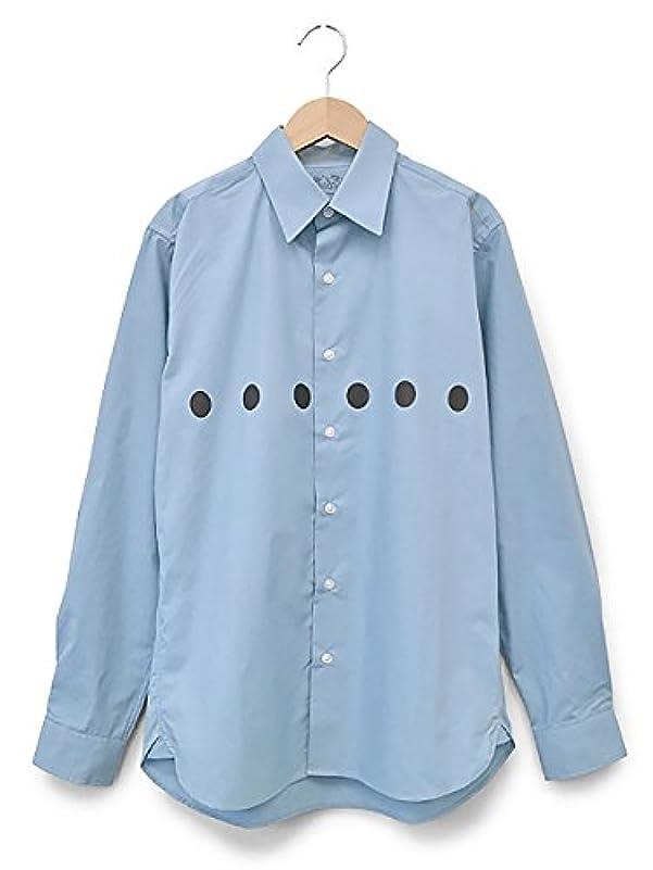 衝突コース悪性発症(ピット) PIIT 天才バカボン カメラ小僧 Yシャツ 長袖 ワイシャツ メンズ ブルー Mサイズ