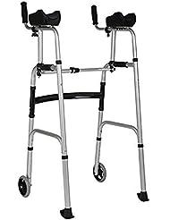 デュアルユースアルミ合金折りたたみウォーキングフレームウォーキングエイド高齢者標準無効ウォーカー