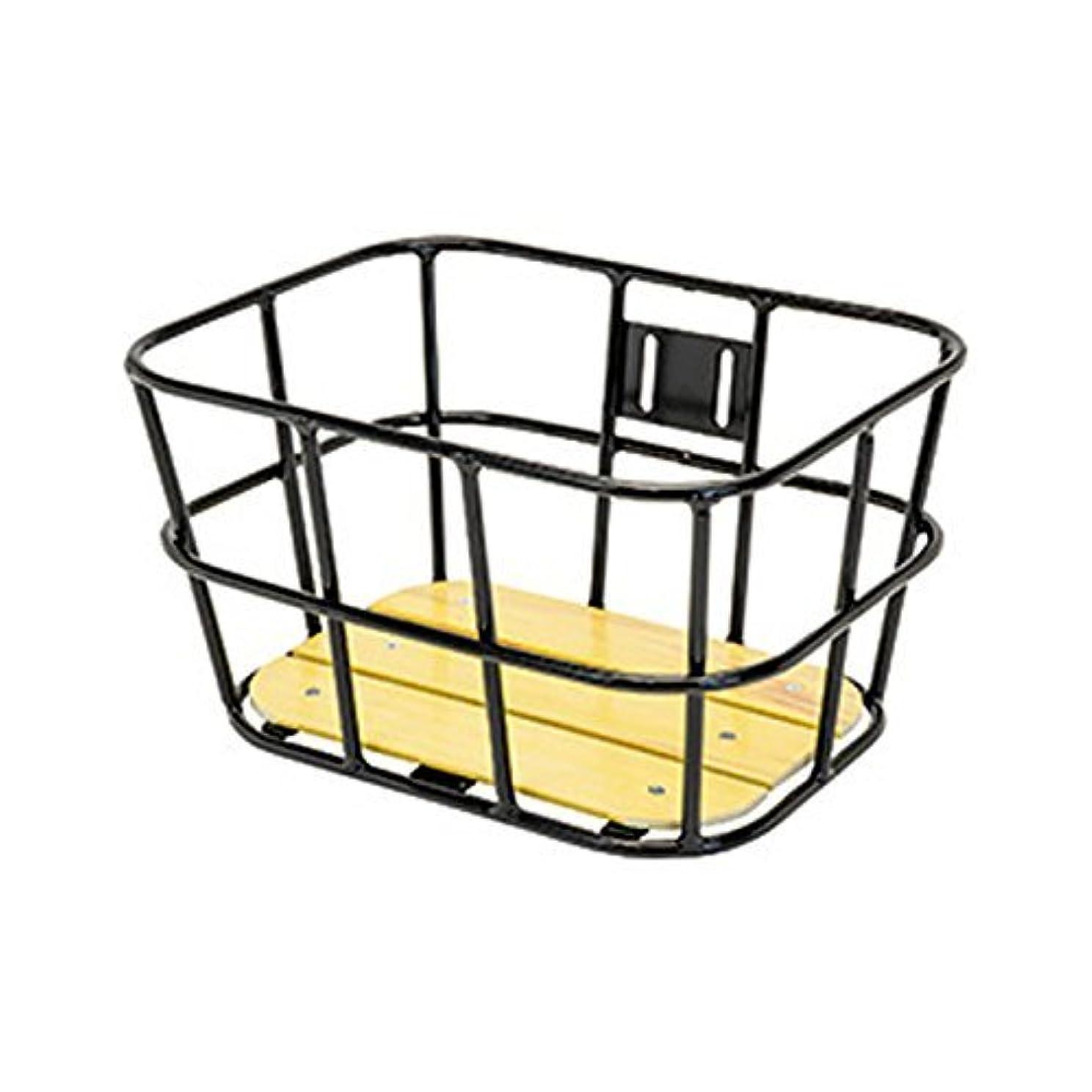 磁気テーマ相手(GIZAPRODUCTS/ギザプロダクツ)(自転車用かご)AL-N04 ウッド ボトム バスケット ブラック