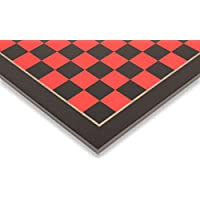 Tulip Red & Black High Gloss Deluxe Chess Board - 2