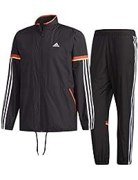 アディダス(adidas) M ESSENTIALS レトロスポーツ ウインドブレーカージャケット&パンツ 上下セット(ブラック/ブラック) FKJ76-DN1435-FKJ75-DN1424