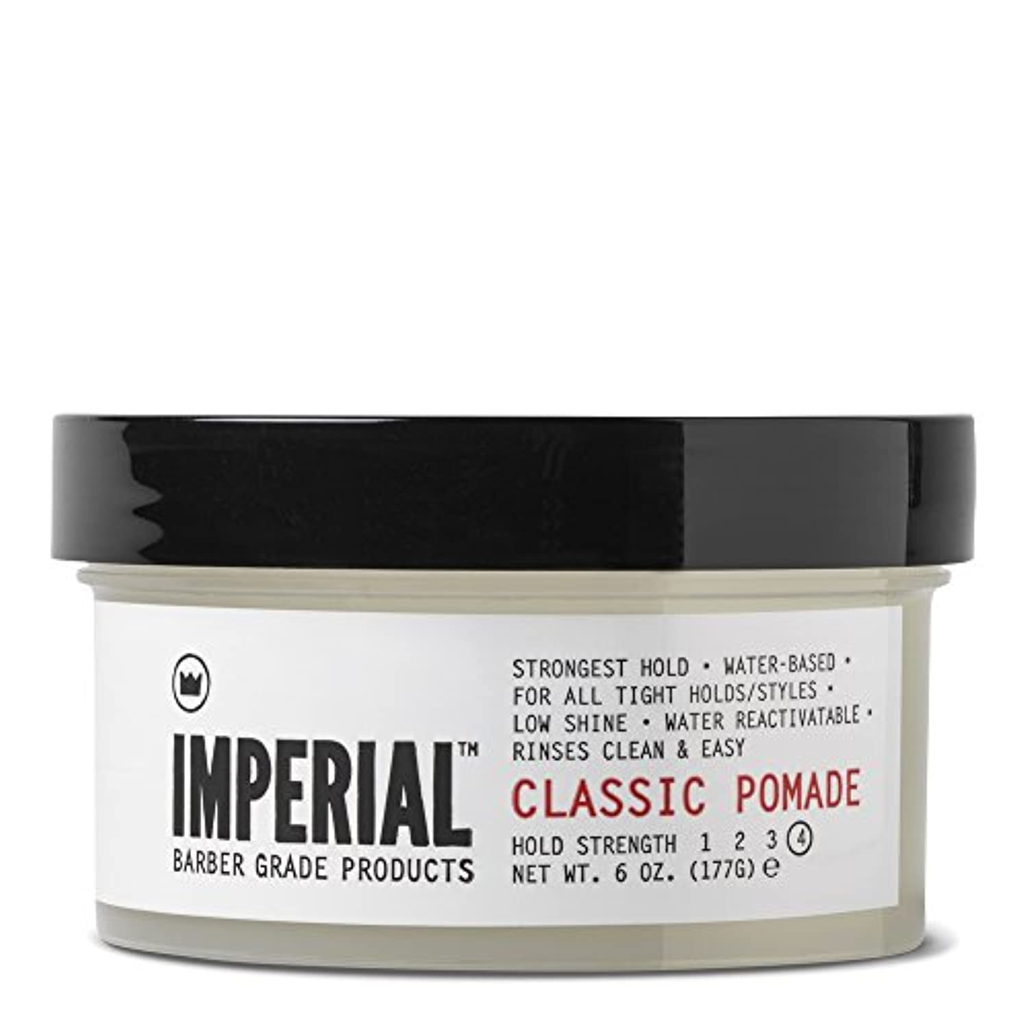 文字レンジレギュラーImperial Barber グレード製品クラシックポマード、6オズ。 72.0オンス